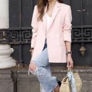 Zara Pale Pink Blazer